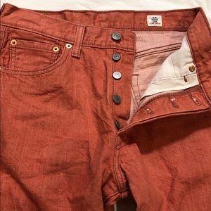 Levi's White Oak Cone Denim 5 ButtonFly Jeans 30